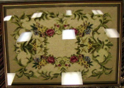 Hand-stitched Wool Rug Shadow Box