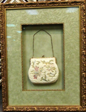 Hand-Stitched Beaded Purse in White