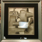 Industrial Charcoal Drawing