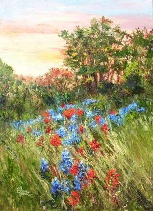 Bluebonnet Sunrise by Sheri Jones 24x18