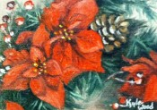 Poinsettas at Christmas by Kyle Wood 5x7