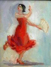 Flamenco Pose By Connie Chadwell