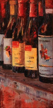 Wine Bottles by Sheri Jones