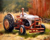 Hill Country Tractor By Ann Rogers