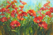 """Winter Poppy Garden"" by Nancy Medina"
