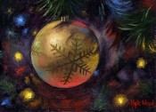 Spirit of The Season - Gold Ornament By Kyle Wood