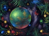 Spirit of The Season - Green Ornament By Kyle Wood