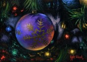 Spirit Of The Season - Purple Ornament By Kyle Wood