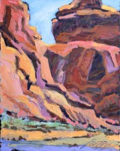 Canyons Coral Light By Sharon Hodges
