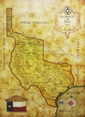 Map of Republic of Texas 1836 By Julius Lira Salazar