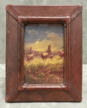 Longhorn Emblem Leather Frame By Mercier