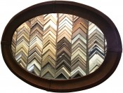 Oval Mirror In Leather By Mercier
