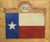 Ornate Flag Of Texas By Julius Lira Salazar