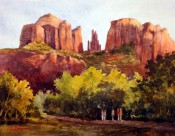 Sundown On Cathedral Rock By Tina Bohlman