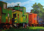 Red Caboose By Steve Hahn