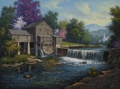 Spring At The Old Mill By Kyle Wood