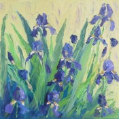 Blue Iris Dreams By Ann McCann