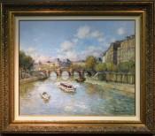 Paris La Seine au Pont Neuf By Jean Kervorkian
