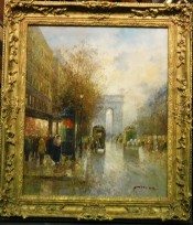 Arch de Triomphe in the Evening By T. Pencke