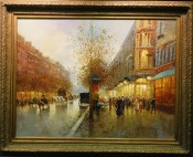 French Street Scene By T. Pencke