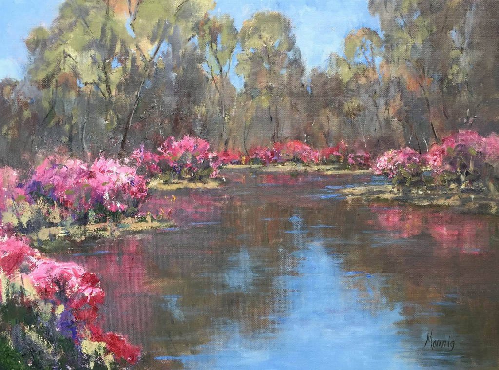 Lakeside Azaleas By Elaine Monnig