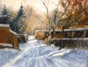 Winter Afternoon In Santa Fe By Lou Ann Bower
