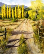 Country Road Gold By Lou Ann Bower