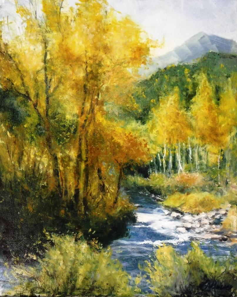 Yellow Diamonds By Lou Ann Bower