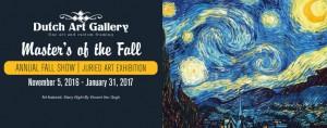 Dutch Art Gallery Annual Fall Show 2016