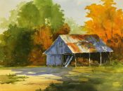 Shed in the Golden Light By Tina Bohlman