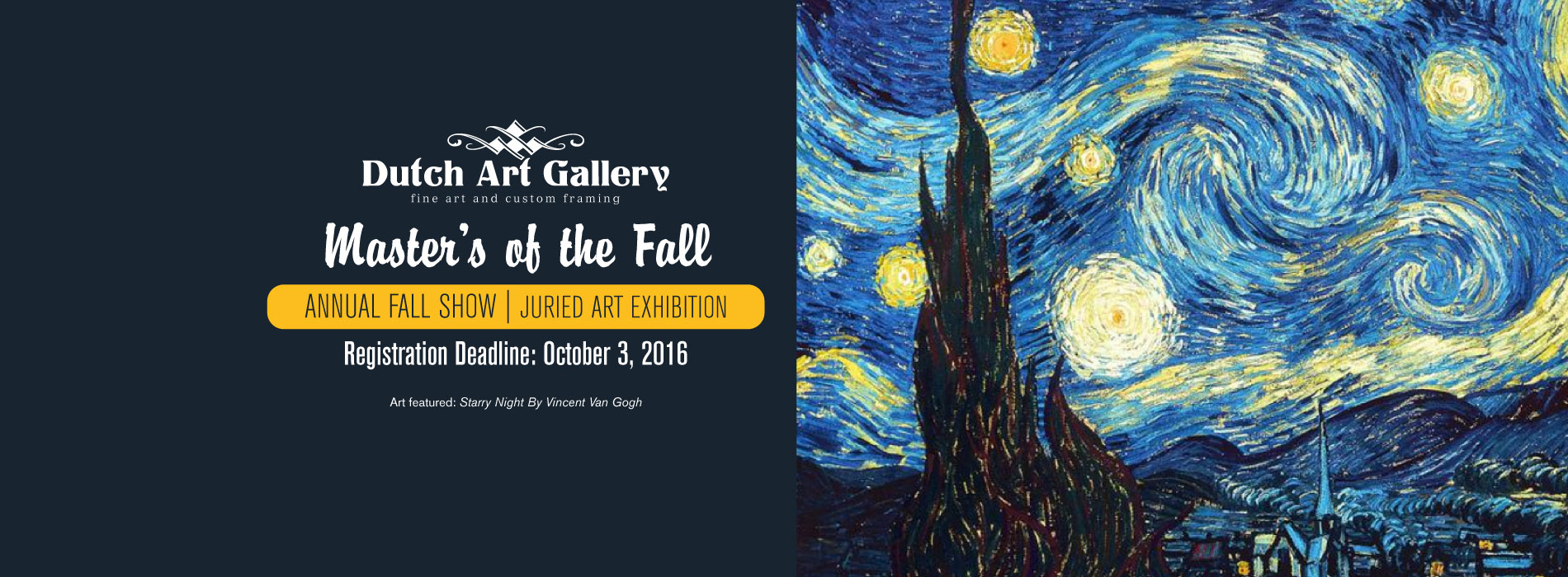 Dutch Art Gallery Annual Fall Show 2016