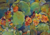 Prickly Pear, Early Summer By Lynn Rushton