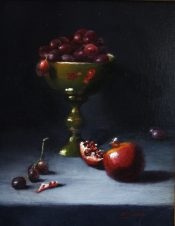 Pomegranate Reflections By Beverly Richmond