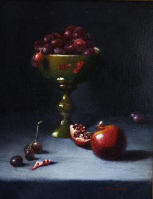 Pomegranate Reflections By Beverly Richmond