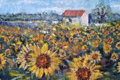 Sunflower Field By Tony Arthur