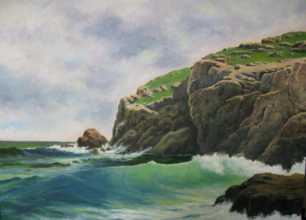 The Cliffs At Nahant By David Leister