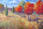 Breezy Fall Trees By Sheri Jones