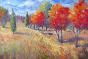 Breezy Fall Trees By Sheri Jones