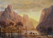 Valley Of The Yosemite By Jerry Valentine Malzahn