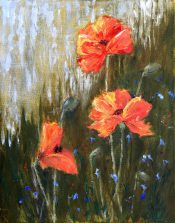 Poppies By Elaine Monnig