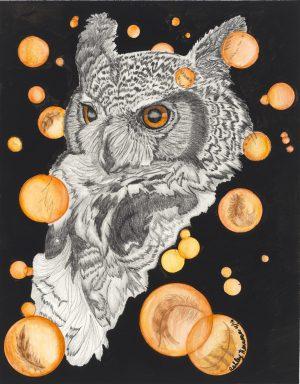 Surreal Owl By Ashley Herrera