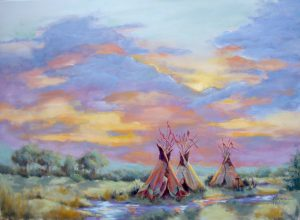 Sunset Campsite By Ann Rogers