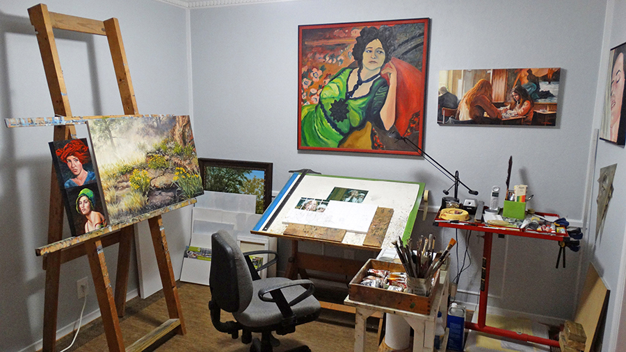 Studio of artist Steve Hahn