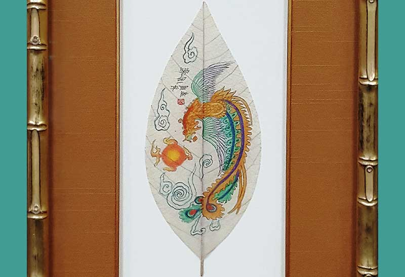 Of Art and Nature: Hand Painted Leaves
