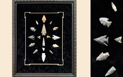 FRAMING PROJECT:  Native American Arrowheads Shadowbox