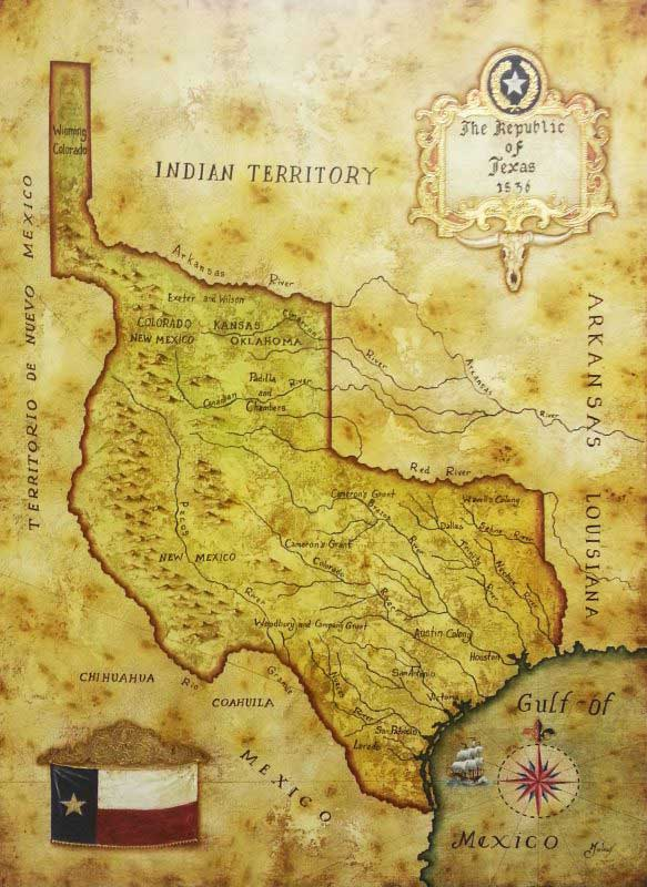 Map Of Texas In 1836.Map Of Republic Of Texas 1836 By Julius Lira Salazar