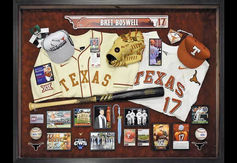 On the Ball: UT Baseball-Themed Shadowbox