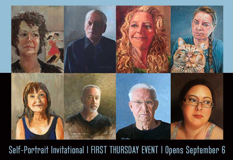 First Thursday Event for September | Self-Portrait Invitational | Reception