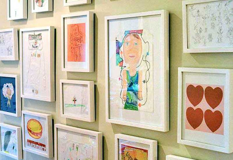 Child's Play: Create a Gallery Wall of Your Child's Artwork