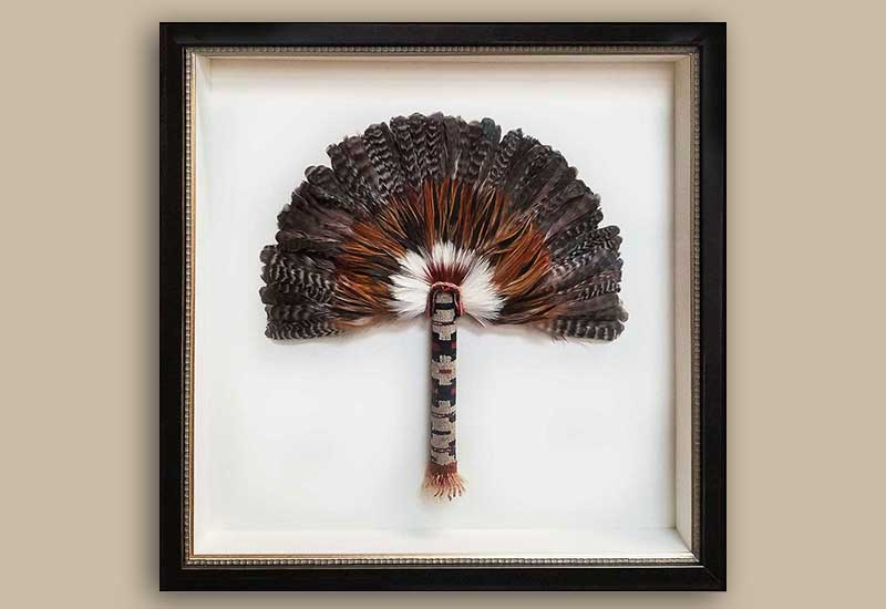 FRAMING PROJECT:  Native American Feather Fans Shadowbox